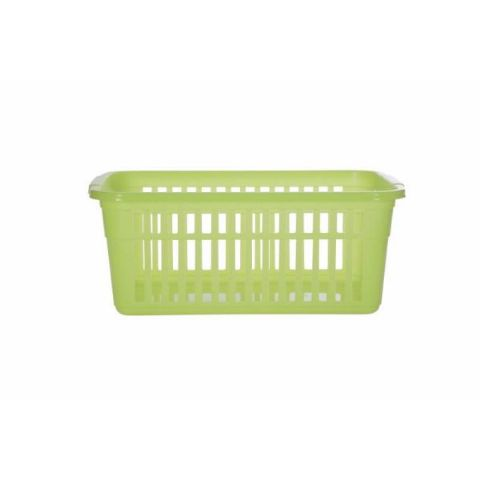 Lime Green Small to Large Plastic Shelf Tidy Storage Baskets - 4 Sizes